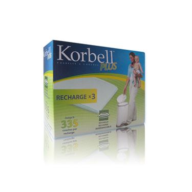 Bilde av Korbell Bleiepose refill til PLUS Bleiebøtte 3pack