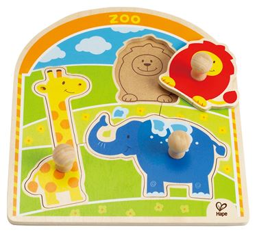 "Bilde av Hape Puslespill ""At the Zoo Knob Puzzle"""