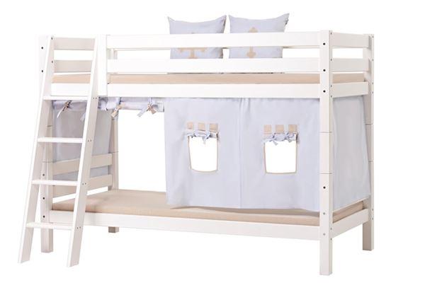 Bilde av Hoppekids Køyeseng 90x200cm, PREMIUM, Skrå stige og To sengehester