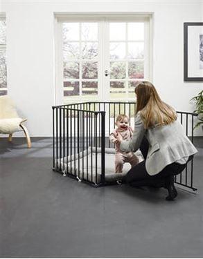 Bilde av BabyDan Lekegrind Park-A-Kid, Sort - Med teppe