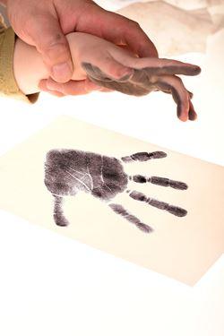 Bilde av BabyDab Hånd & Fotavtrykk, Dark Grey