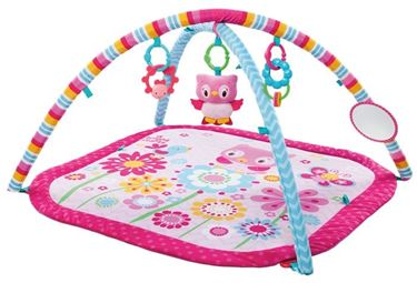 Bilde av Bright Starts Babygym, Pretty in Pink Fantacy Flowers Activity Gym