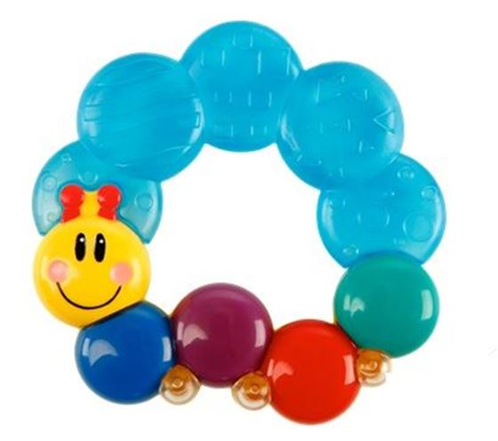 Bilde av Bright Starts Caterpillar Water Teether Blue