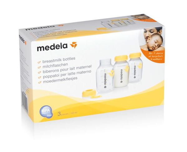 Bilde av Medela Oppbevaringsflaske til morsmelk, 3 stk 150 ml