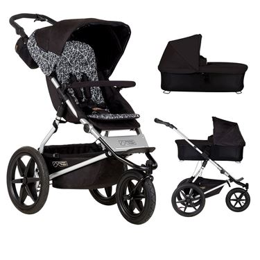 Bilde av Mountain Buggy Terrain v3 + Bag, Grafitt/Sort