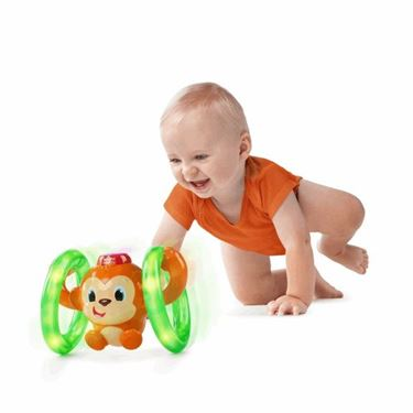 Bilde av Bright Starts Babyleke - Roll and Glow Monkey