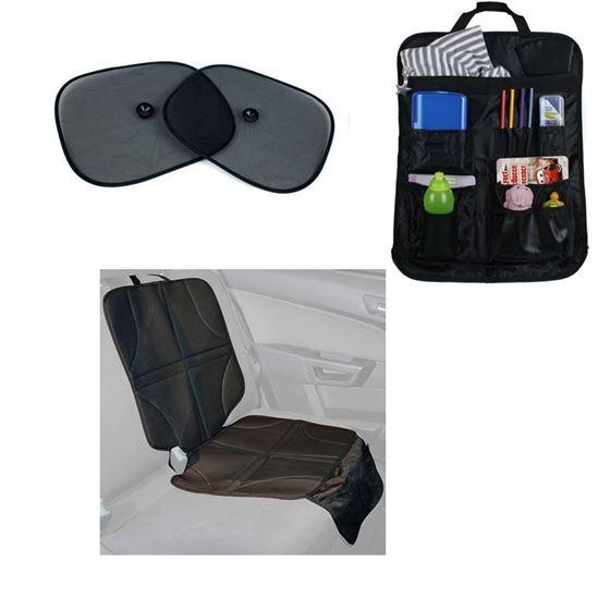 Bilde av Mothers Choice Biltilbehørspakke: Setebeskytter, Oppbevaringslomme og Solskjerm