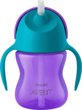 Bilde av Philips Avent Straw Cup 200 ml Lilla/Turkis