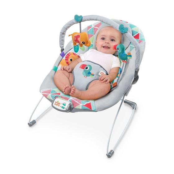Bilde av Bright Starts Vippestol med Vibrasjon og Lyd, Toucan Tango, Nyfødt til 9kg