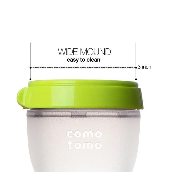 Bilde av Comotomo Natural Feel Tåteflaske, 150ml Grønn