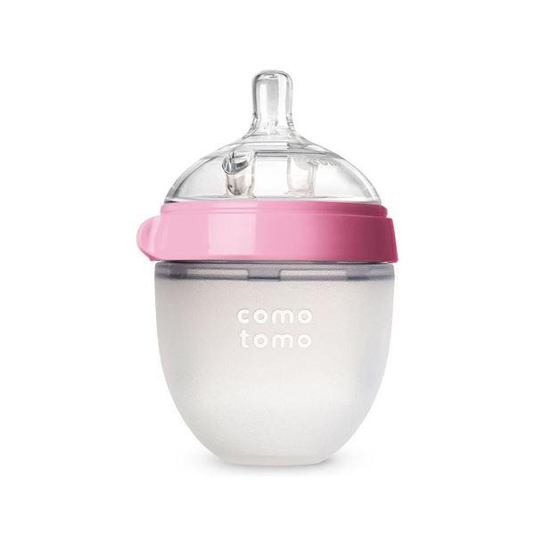 Bilde av Comotomo Natural Feel Tåteflaske, 150ml Rosa