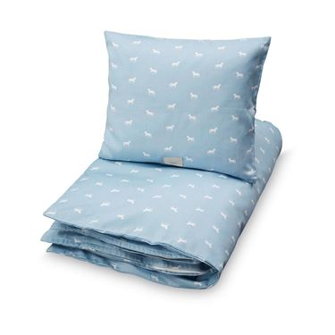 Bilde av CAM CAM Junior Bedding [Size: Junior 100x140/40x45) Horse Dusty Blue