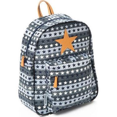 Bilde av Smallstuff Ryggsekk Stor, Blue Multi Leather Star