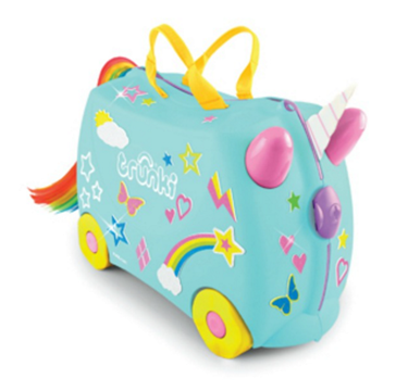 Bilde av Trunki Barnekoffert, Ride-On, Una Unicorn m/ Klistermerker