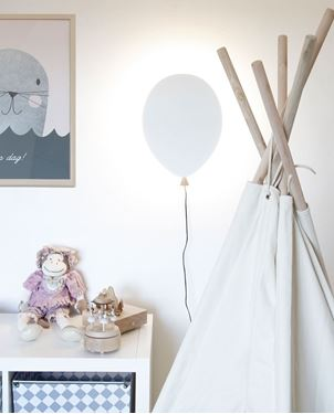 Bilde av Globen Vegglampe Ballong, Hvit