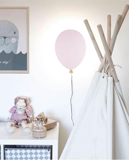 Bilde av Globen Vegglampe Ballong, Rosa