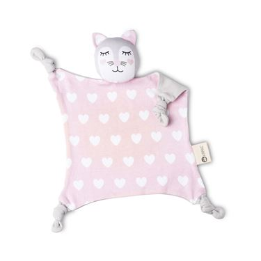Bilde av Kippin koseklut Kitty Cat - pink/white heart