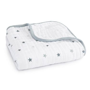Bilde av Aden + Anais Helseteppe, Dream Blanket, Twinkle Small Star/White