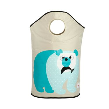 Bilde av 3 Sprouts Skittentøyskurv, Polar Bear