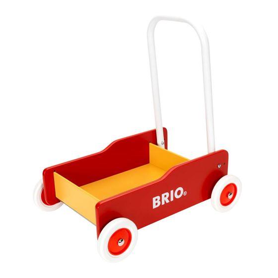 Bilde av BRIO Gåvogn rød/gul