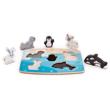 Bilde av Hape Polar Animal Tactile Puzzle