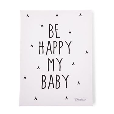 Bilde av Childhome Oljemaleri 30x40cm, Be Happy My Baby