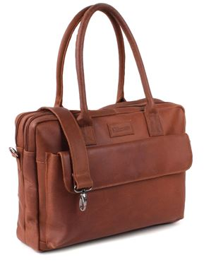 Bilde av Kidzroom Journey Stelleveske, Cognac Leather