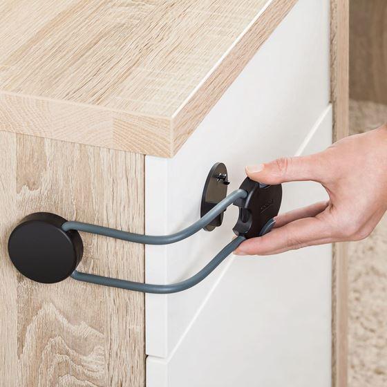 Bilde av Reer Multisikring til Skap og Skuffer, Koksgrå Designline