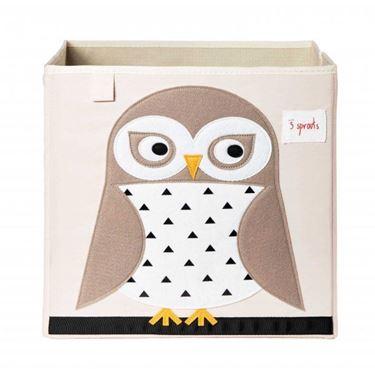 Bilde av 3 Sprouts Oppbevaringskasse, Owl