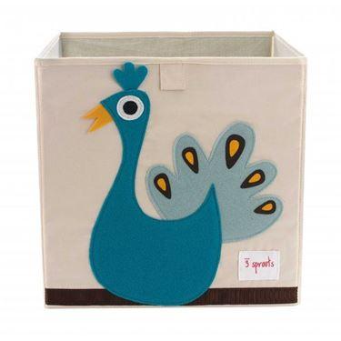 Bilde av 3 Sprouts Oppbevaringskasse, Peacock