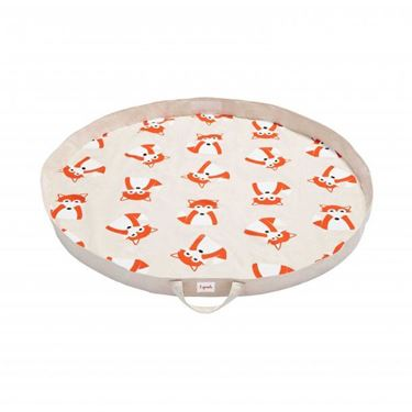Bilde av 3 Sprouts Leketeppe, Play Mat Bag, Fox