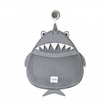 Bilde av 3 Sprouts Oppbevaring til Badeleker, Shark