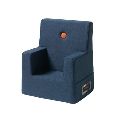 Bilde av By KlipKlap Kids Chair - Dark blue with orange buttons