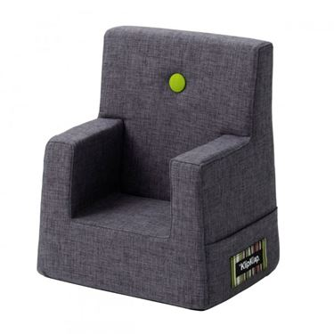 Bilde av By KlipKlap Kids Chair - Blue grey with green buttons