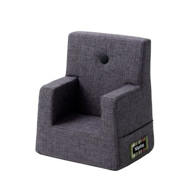 Bilde av By KlipKlap Kids Chair - Blue grey with grey buttons