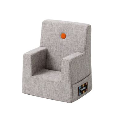 Bilde av By KlipKlap Kids Chair - Multi Grey with Orange Buttons