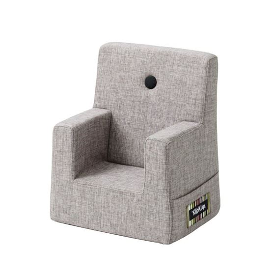 Bilde av byKlipKlap Kids Chair - Multi grey with grey buttons