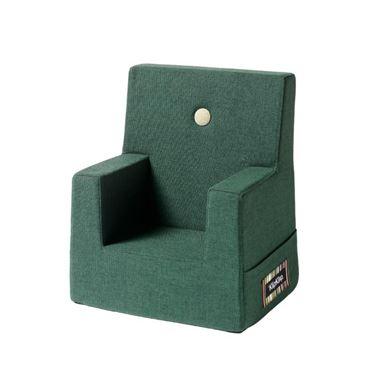 Bilde av byKlipKlap Kids Chair - Deep green with light green buttons