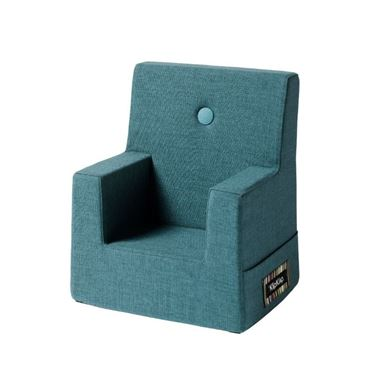 Bilde av By KlipKlap Kids Chair - Dusty blue with blue buttons