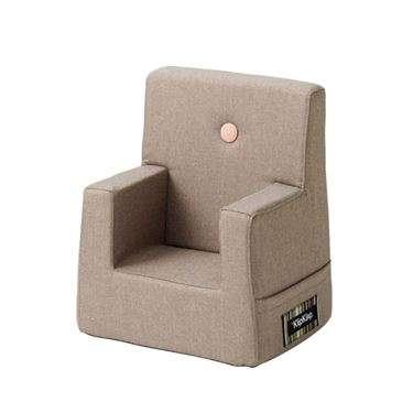 Bilde av By KlipKlap Kids Chair - Warm grey with light peach buttons