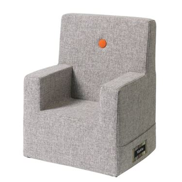 Bilde av By KlipKlap Kids Chair XL - Multi grey with orange buttons