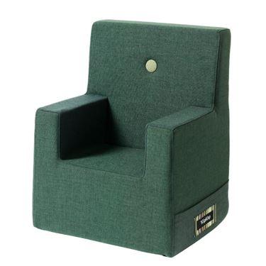 Bilde av byKlipKlap Kids Chair XL - Deep green with light green buttons
