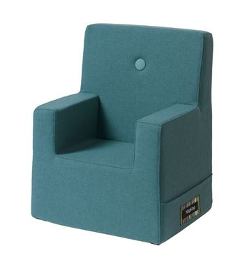 Bilde av By KlipKlap Kids Chair XL - Dusty blue with blue buttons