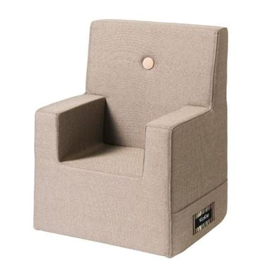 Bilde av By KlipKlap Kids Chair XL - Warm grey with light peach buttons