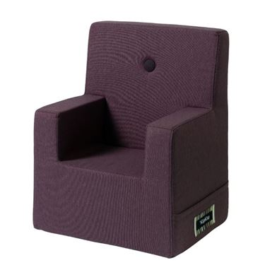 Bilde av By KlipKlap Kids Chair XL - Plum with plum buttons