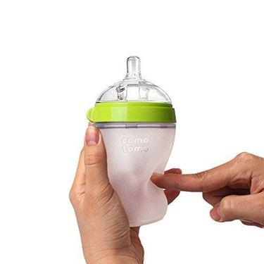 Bilde av Comotomo Natural Feel Tåteflaske, 250ml Grønn