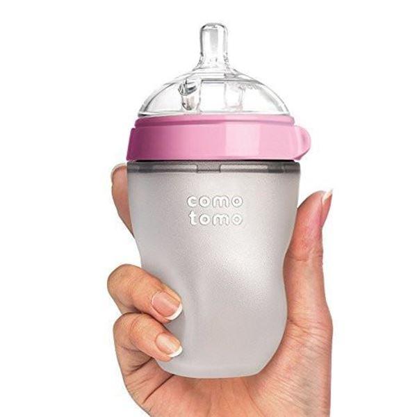 Bilde av Comotomo Natural Feel Tåteflaske, 250ml Rosa