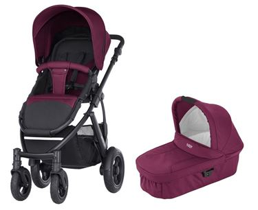 Bilde av Britax Smile 2 + Hardbag, Wine Red
