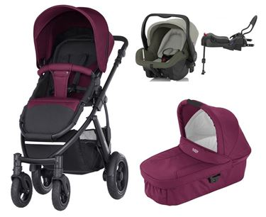 Bilde av Britax Smile 2 Travelsystem Wine Red