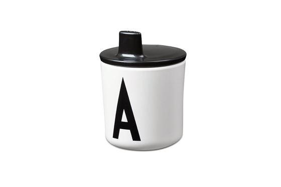 Bilde av Design Letters Lokk til ABC Melaminkopp, Sort
